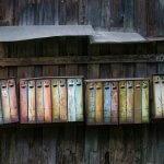 Old Rain Warped Mailboxes