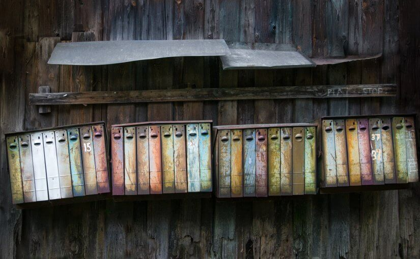Old Rain Warped Mailboxes