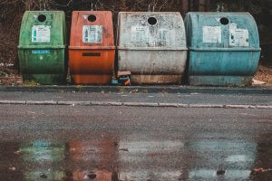 Old Recycling Bins