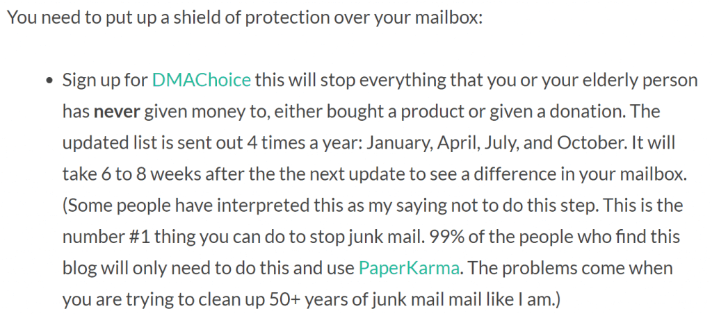 Drowning In Junk Mail Blog 2019